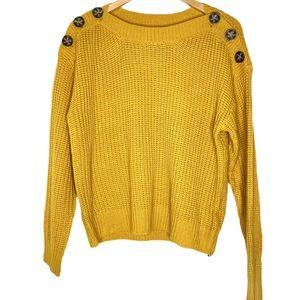 Derek Heart yellow sweater large